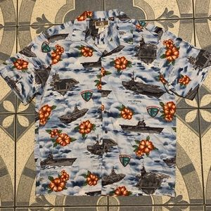 NWOT VTG Kalaheo Navy Fleet Floral Hawaiian Shirt